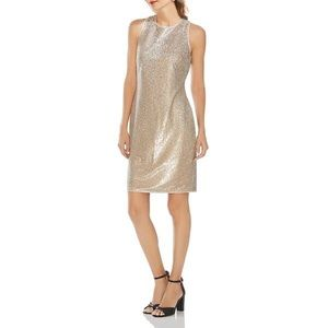 Vince Camuto Silver and Gold Sequin Dress 4